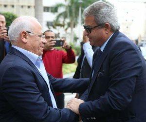 وزير الرياضة يلتقى محافظ بورسعيد قبل زيارة المجمع الرياضي بالمحافظة