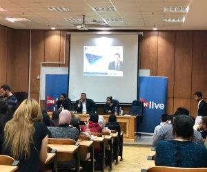 الملتقى العربى للتدريب الاعلامى يستكمل ورش التدريب لطلاب إعلام الأهرام الكندية برعاية قناة ON Live