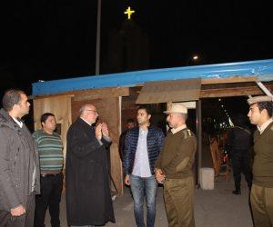 مدير أمن دمياط يتفقد المنشآت الهامة ودور العبادة المسيحية (صور)