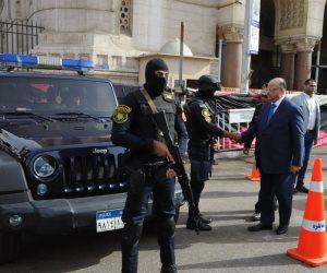 مدير أمن المنيا يتفقد المراكز والأقسام بالمحافظة