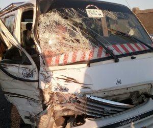 مصرع سيدة و إصابة 4 آخرين في حادث تصادم سيارتين بالبدرشين