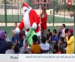 """""""صباح on"""" يحتفل برأس السنة من دار رعاية اجتماعية.. وبابا نويل يوزع الهدايا على الأطفال"""