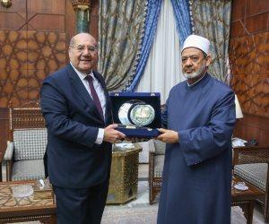 الإمام الأكبر يستقبل رئيس المحكمة الدستورية العليا