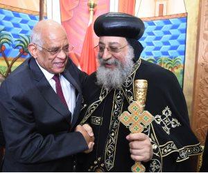 محمد الكومي: البابا تواضروس حافظ على النسيج الوطني بين عنصري الأمة