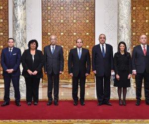 الوزراء ونواب الوزراء الجدد يؤدون اليمين الدستورية أمام الرئيس السيسي (صور)