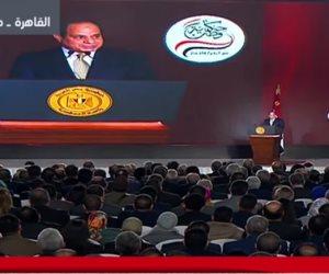 """""""خلي بالكم يا رجالة"""".. السيسي: تمثيل المرأة في الحكومة والبرلمان مشرف"""