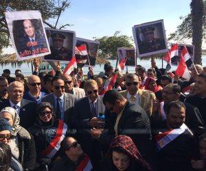 مسيرة لأعضاء النوادي وذوي الإعاقة تأييدا لترشح السيسي لفترة رئاسية ثانية بالإسماعيلية