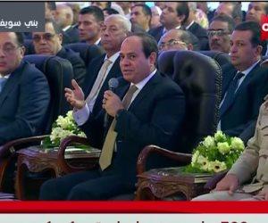 الرئيس السيسي للمصريين: فى حاجات لو نعملها وإيدينا فى إيد بعض هنقدر نسيطر