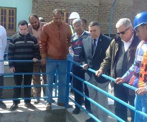 رئيس شركة مياة الشرب والصرف الصحي يتفقد محطات الأقصر ويوقع 13 مشروع مياة جديد (صور)