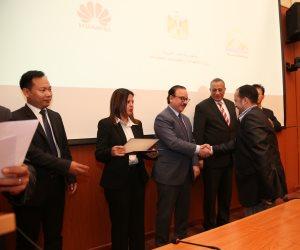 وزير الاتصالات يشهد تخريج الدفعة الأولى من منحة مشروع تأهيل الشباب لسوق العمل (صور)