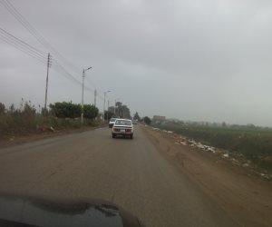 سوء الأحوال الجوية يخيم على مدن وقرى كفر الشيخ