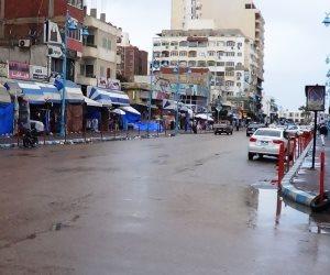 سقوط أمطار خفيفة ومتواصلة على مطروح والساحل الشمالي  (صور)