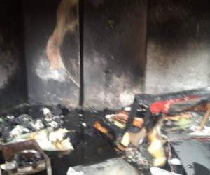 ماس كهربائي يتسبب فى حريق بمنزل بمدينة بئر العبد دون خسائر بشرية  (صور )