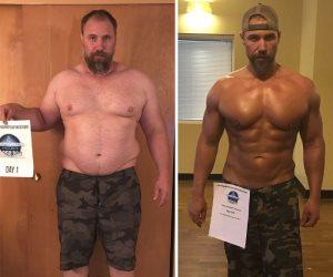 أب يفقد وزنه الزائد ويغير نمط حياته  من أجل عيون أطفاله الثلاث