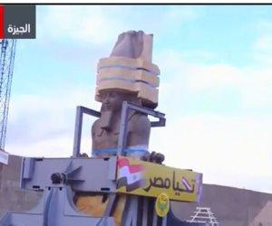 شاهد.. مع ON Live نقل تمثال رمسيس الثاني للمتحف المصري الكبير