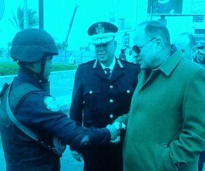 مدير أمن الجيزة يتفقد الخدمات الأمنية بالشيخ زايد
