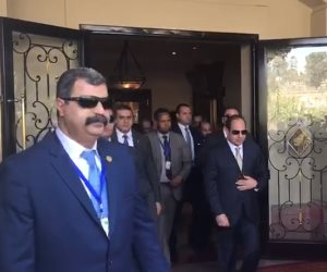 السيسي يغادر أديس ابابا بعد القمة الأفريقية الثلاثية (فيديو)