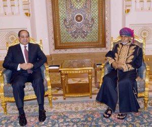 السلطان قاتبوس يهنئ الرئيبس السيسي بفوزه في الانتخابات الرئاسية