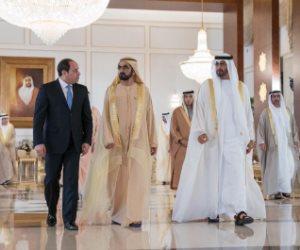 """""""أهلا بالزعيم في دار زايد"""".. الإمارات ترحب بالسيسي"""