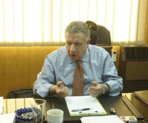 """عمرو كمال رئيس البنك العقارى المصرى لـ""""صوت الأمة"""": خطة هيكلة تستهدف إعادة تحقيق الربحية (صور)"""