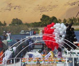 انطلاق مهرجان أسوان الدولي للفنون بديفيلية للمراكب النيلية (صور)