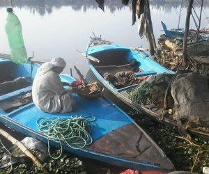 الأمونيا تقضى على الثروة السمكية بنهر النيل فى صا الحجر بالغربية
