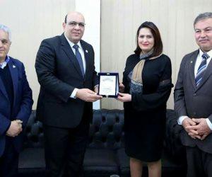 وزيرة الشباب التونسية تبحث التعاون مع الاتحاد الإفريقى للكونغ فو (صور)