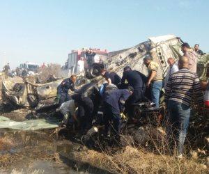 الصحة: إصابة 16 مواطناً في حادث انقلاب سيارة بطريق الإسكندرية الصحراوي