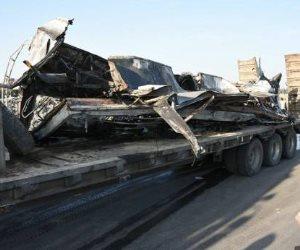 تشييع جثمان 3 من ضحايا أتوبيس الإسكندرية.. وخروج 12 مصابا من المستشفيات (صور )