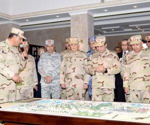 بيان للقوات المسلحة يعلن التفاصيل الكاملة لافتتاح السيسي لقيادة قوات شرق القناة
