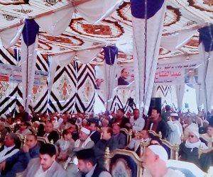 مؤتر جماهيري حاشد بساقلتة في سوهاج لدعم الرئيس السيسي (صور)
