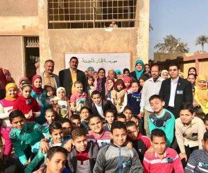 """استجابة لـ""""صوت الأمة"""".. وزارة التربية والتعليم تدعم الطلاب الموهوبين داخل قرية ببني سويف (صور)"""