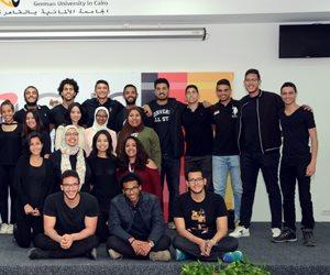 45 شركة تطرح أوراق أعمالها في ملتقى التوظيف بالجامعة الألمانية بالقاهرة  (صور)