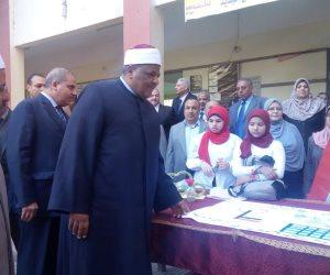"""""""شومان"""" و""""المحرصاوي"""" يتفقدان معهد فتيات أسيوط"""