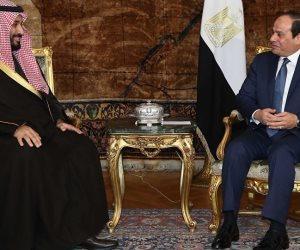 ولي العهد السعودي يهنيء «السيسي» بإعادة انتخابه رئيسا لمصر