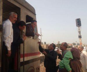 عودة حركة القطارات لطبيعتها بسوهاج بعد تعطلها ساعتين