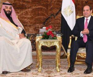 الرئيس السيسي وولي العهد السعودي يتفقدان منتجع الفرسان بالإسماعيلية