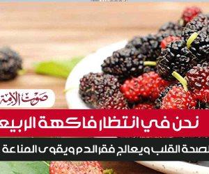 نحن في انتظار فاكهة الربيع..التوت مفيد لصحة القلب ويعالج فقر الدم ويقوى المناعة(إنفوجراف)