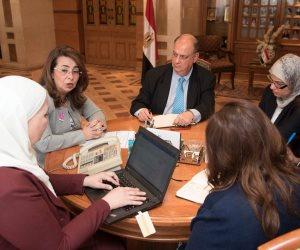 غادة والي تناقش التوسع في تطبيق برنامج فرصة مع وفد البنك الدولي