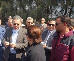 وزير النقل يتفقد منطقة حادث قطار المناشي بشكل مفاجىء (صور)