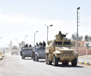 البيان 15 للعملية الشاملة سيناء 2018.. العثور على 34 صاروخ و60 قنبلة يدوية  والقضاء على 16 تكفيريًا