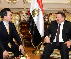 تفاصيل لقاء رئيس  لجنة الاعلام مع سفير كوريا الجنوبية (صور)