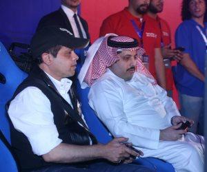 """""""هنيدي وتركي آل شيخ"""" يتعادلا في مباراة افتتاح بطولة الألعاب الألكترونية(صور)"""