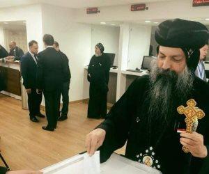 أسقف الكنيسة الأرثوذكسية بنيويورك يشارك في الانتخابات الرئاسية (صورة)