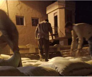 ضبط 16 طن دقيق وأرز تمويني و1400لتر سولار قبل تهريبهم بكفر الشيخ