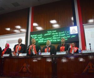 رئيس جامعة بنها يشهد حفل الخريجين الخامس لكلية التمريض (صور)