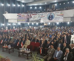 وزراء ونواب وفنانين يشاركون في مؤتمر لدعم السيسي بوسط القاهرة