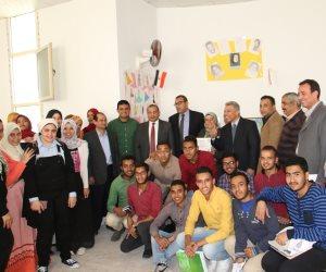 افتتاح معرض «أهمية مشاركة الشباب في العملية الانتخابية» بجامعة بنى سويف