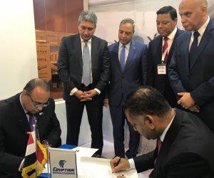 وزير الطيران يشهد توقيع اتفاقية بين شركة مصر للطيران للصيانة والخطوط الكينية