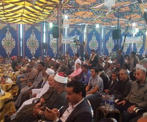 المعابدة تدعم السيسي في انتخابات الرئاسة بمؤتمر حاشد  (صور)